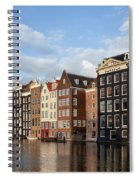 Amsterdam Old Town At Sunset Spiral Notebook