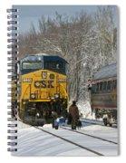 Amtrak And Csx Crews Spiral Notebook