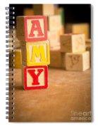 Amy - Alphabet Blocks Spiral Notebook