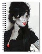 Amy Winehouse Spiral Notebook