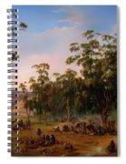 An Aboriginal Encampment Near The Adelaide Foothills Spiral Notebook