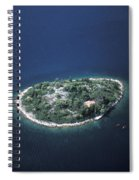 An Aerial View Of Two Kayakers Paddling Spiral Notebook