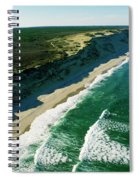 An Aerial View Of Waves Hitting Spiral Notebook