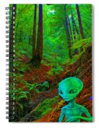 An Alien In A Cosmic Forest Of Time Spiral Notebook