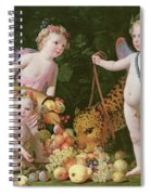 An Allegory Of Peace And Plenty Spiral Notebook