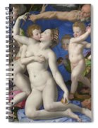 An Allegory With Venus And Cupid Spiral Notebook