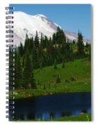 An Alpine Lake Foreground Mt Rainer Spiral Notebook