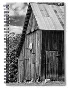 An American Barn Bw Spiral Notebook