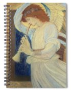 An Angel Playing A Flageolet Spiral Notebook
