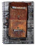 An Antique Mailbox Spiral Notebook