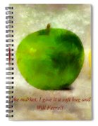 An Apple A Day With Will Ferrell Spiral Notebook