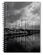 An Approaching Storm - Black And White Spiral Notebook