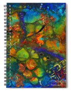 An Aquatic Wine Party Spiral Notebook