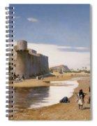 An Arab Caravan Outside A Fortified Town Spiral Notebook