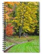 An Autumn Childhood Spiral Notebook