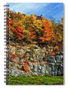 An Autumn Day Painted Spiral Notebook