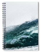 An Empty Wave Breaks Over A Shallow Reef Spiral Notebook