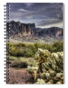 An Evening At The Superstitions Spiral Notebook
