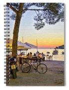 An Evening In Rovinj - Croatia Spiral Notebook
