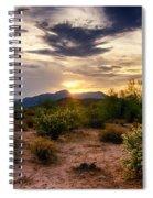 An Evening In The Desert  Spiral Notebook