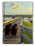 An Evening Stroll Spiral Notebook