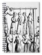 An Execution Of Witches In England Spiral Notebook