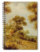 An Extensive Wooded Landscape Spiral Notebook