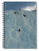 An Ice Climber In The Middle Spiral Notebook