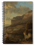 An Italianate Landscape With Travellers Ambushed By Bandits Spiral Notebook
