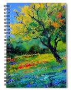 An Oak Amid Flowers In Texas Spiral Notebook