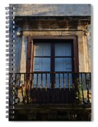 An Old Balcony In Syracuse Spiral Notebook