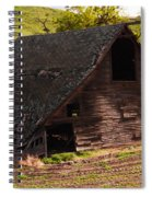 An Old Barn Falling In Spiral Notebook