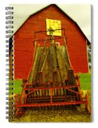 An Old Barn In Kittitas Spiral Notebook