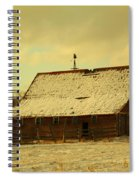 An Old Barn Just After An Early Spring Snow In Keene North Dakota  Spiral Notebook