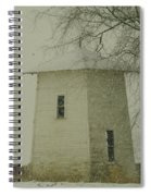 An Old Bin In The Snow Spiral Notebook