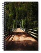 An Old Bridge Crossing The Seleway River  Spiral Notebook