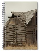An Old Cabin In Eastern Montana Spiral Notebook
