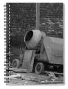 An Old Cement Mixer And Construction Material Spiral Notebook
