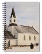 An Old Church In Palermo North Dakota Spiral Notebook
