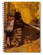 An Old Colorado Mine In Autumn Spiral Notebook