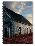 An Old Farm House Sits Partially Buried Spiral Notebook