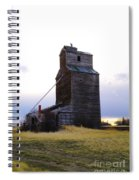 An Old Grain Elevator Off Highway Two In Montana Spiral Notebook