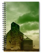 An Old Grain Silo In Eastern Montana Spiral Notebook