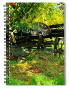 An Old Harvest Wagon Spiral Notebook