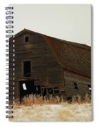 An Old Leaning Barn In North Dakota Spiral Notebook
