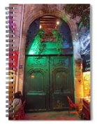 An Old Ornate Wooden Door In Paris France Spiral Notebook
