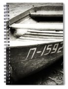 An Old Row Boat In Black And White Spiral Notebook