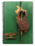 An Old Rusty Lock Spiral Notebook