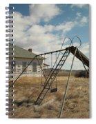 An Old School Near Miles City Montana Spiral Notebook