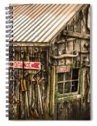An Old Tool Shed Spiral Notebook